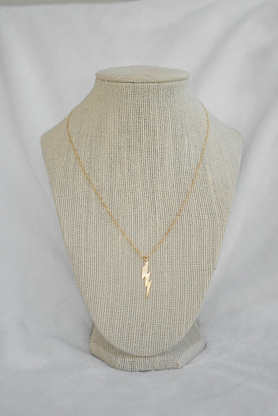 Lightning Bolt Necklace - Gold Filled & Sterling Silver