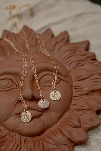 Bindi Necklace - Gold Filled