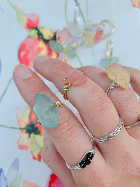 Sun Beam Quartz Ring