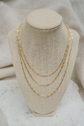 Milan Chain Link Necklace - 14k Gold fill