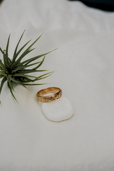 Dahlia Floral Ring - 14k Gold Fill