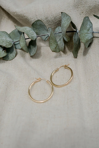 Rosemary Hoops - 14k Gold Fill
