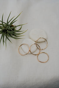 The Hammered Ring - 12k Gold Fill