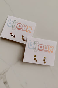 Shooting Star Studs - Gold Filled