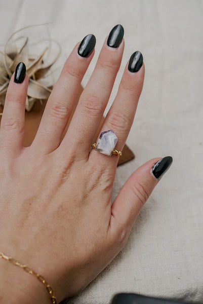 Amethyst Arrow Ring
