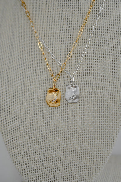 Lunette Necklace - Gold Filled & Sterling Silver