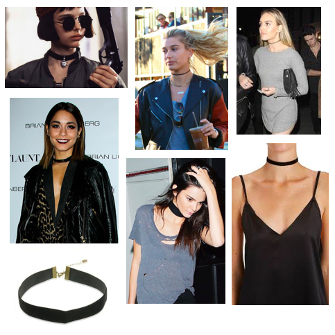 90's Trend: Black chokers are back!