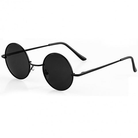 Black retro round sunglasses - Trendfuse