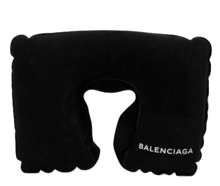 Balenciaga, Colette, Paris, Travel pillow, coussin, fashion, trend, designer, demna gvasalia, capsule, limited, edition,