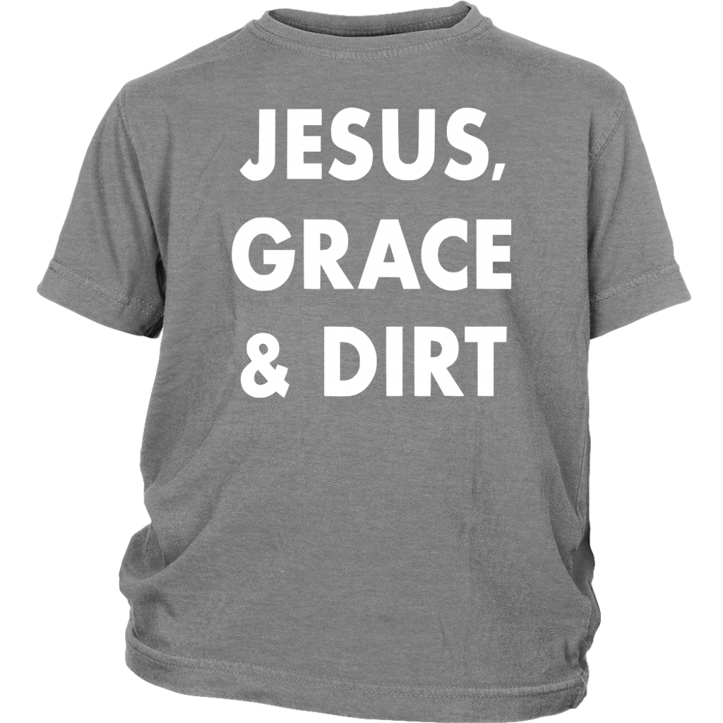 Jesus, Grace & Dirt Kids Tee