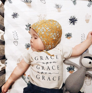Grace Upon Grace Upon Grace Ivory Onesie