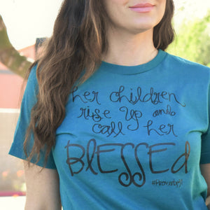 Teal Blessed Tee