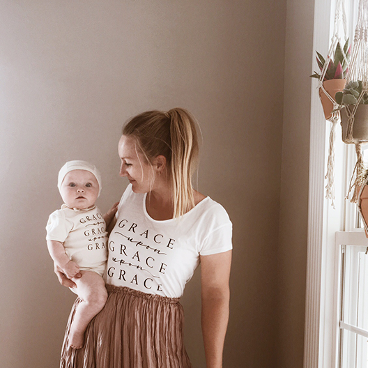 Grace Upon Grace Upon Grace Organic Onesie