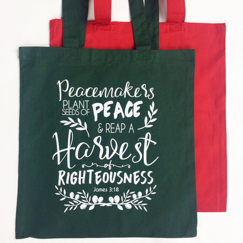 Seeds of Peace Tote