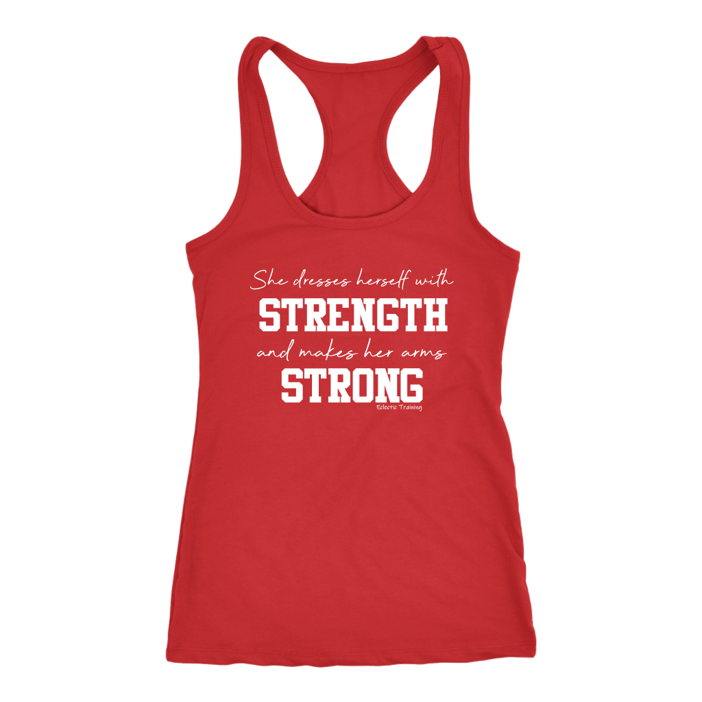 She Dresses Herself in Strength Tank