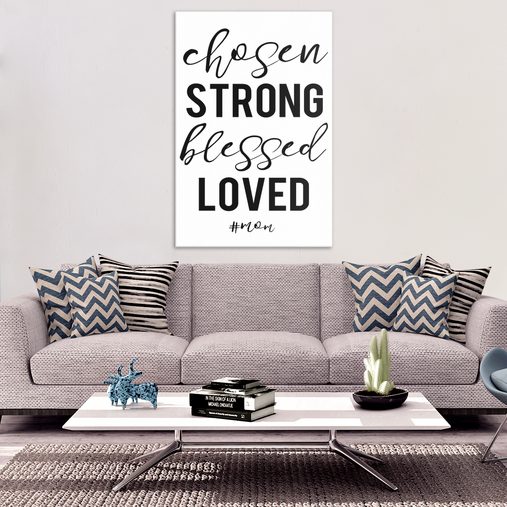Chosen #mom Canvas