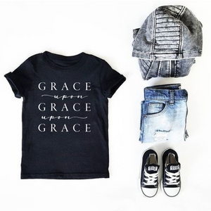 Grace Upon Grace Upon Grace Kids Tee