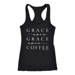 Grace Upon Grace Upon Coffee Racerback