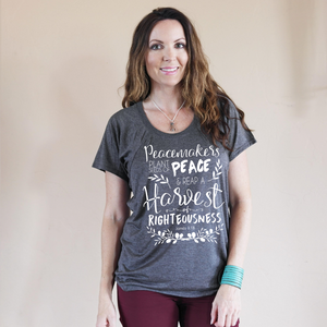 Seeds of Peace Ladies Flowy Tee