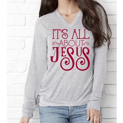 It's All About Jesus Ladies Sweater