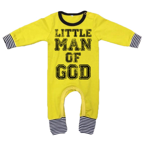 Little Man of God Romper