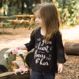 Grace in Her Heart Ruffled Tee