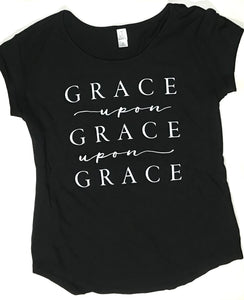 Grace Upon Grace Ladies Tee - Black