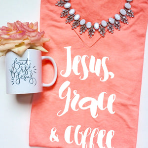 Jesus, Grace & Coffee Ladies Fit