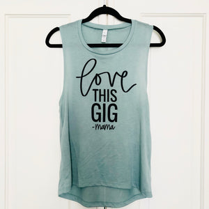 Love This Gig Mint Tank