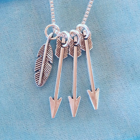 Feather for Arrow Necklace
