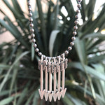Ball Chain Custom Arrow Necklace