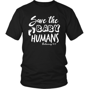 Save the Baby Humans Adult Tee