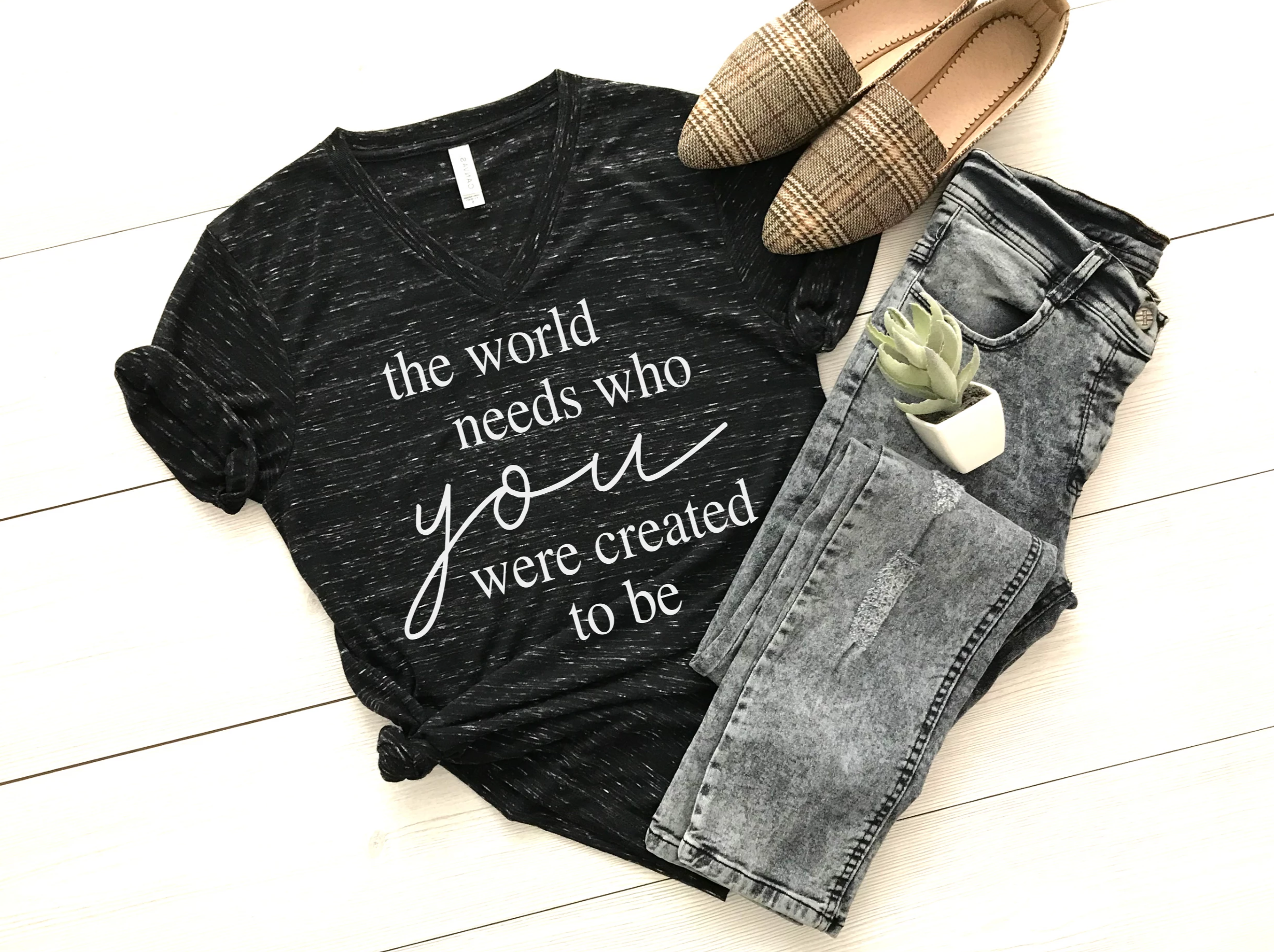 The World Needs Who You Were Created to Be- Unisex tee