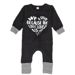 He First Loved Us Romper