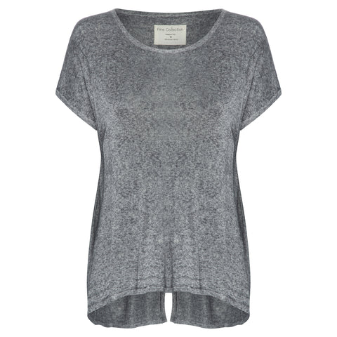 Fine Collection | Silver Fine Knit Top - Decker and Lee - 1