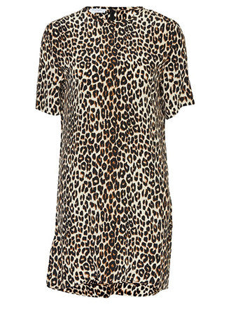 Equipment | Riley Tee Dress Leopard - Decker and Lee