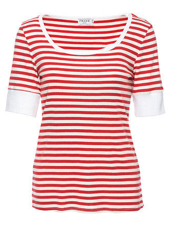 Frame Denim | Le Boatneck Tee Red Stripe - Decker and Lee - 1