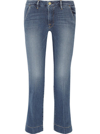 Frame Denim | Le Slim Cropped Mid-Rise Straight-Leg Jeans - Decker and Lee