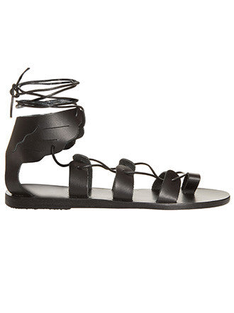 Ancient Greek Sandals | Fteroti Black - Decker and Lee - 1