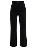 M.i.H Jeans Coler high-rise cropped velvet flared trousers