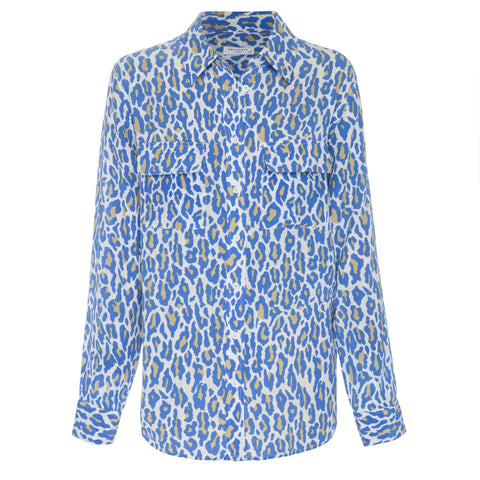 Equipment | Slim Signature Silk Shirt Regatta Multi Cheetah Print - Decker and Lee - 1