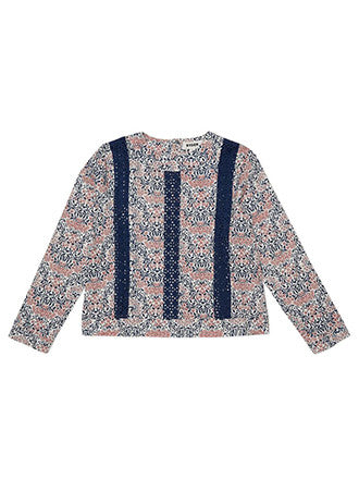 RYDER Camille Lace Long Sleeve Top Floral