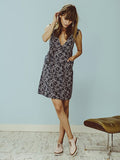RYDER Harper V-neck Linen Dress