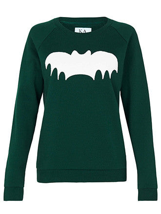 Zoe Karssen CAVIAR BAT LOOSE FIT RAGLAN SWEAT
