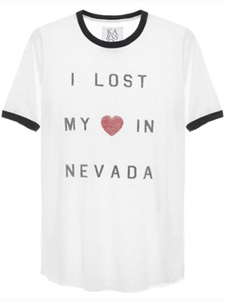 Zoe Karssen I Lost My Heart In Nevada Slim Fit Tee