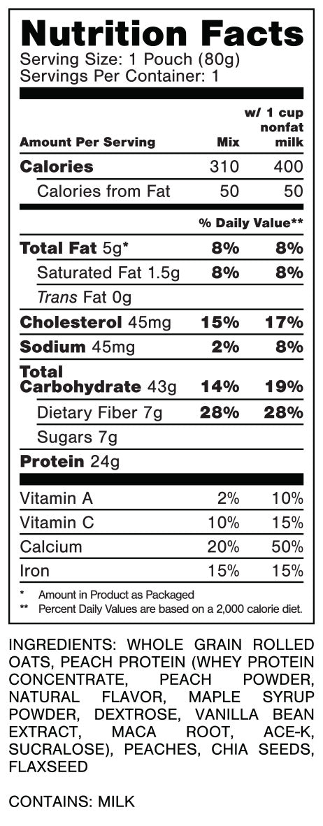 Oats Overnight Peach Upside Down Cake Nutrition Facts