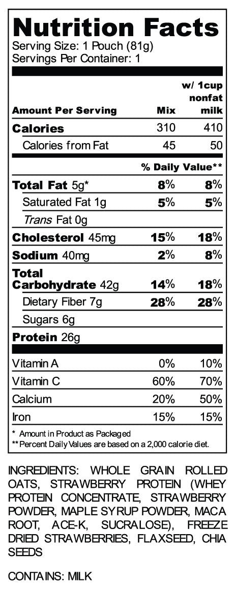 Oats Overnight Strawebrries & Cream Nutrition Facts