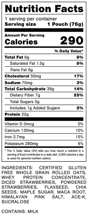 Oats Overnight Strawberries & Cream Nutrition Facts