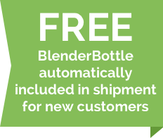 Free BlenderBottle automatically included in shipment for new customers