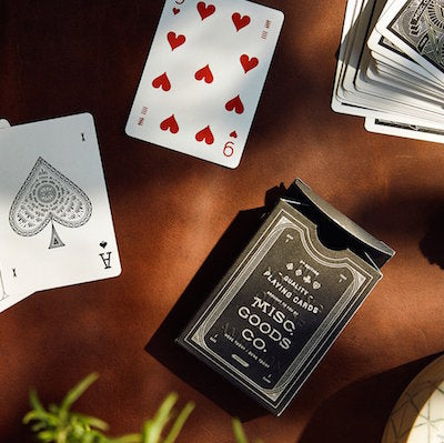 Black Deck of Playing Cards \\ Misc Goods Co